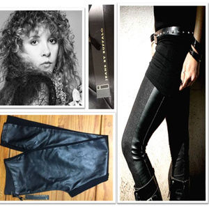 Black Faux Leather Spandex Skinny Pants